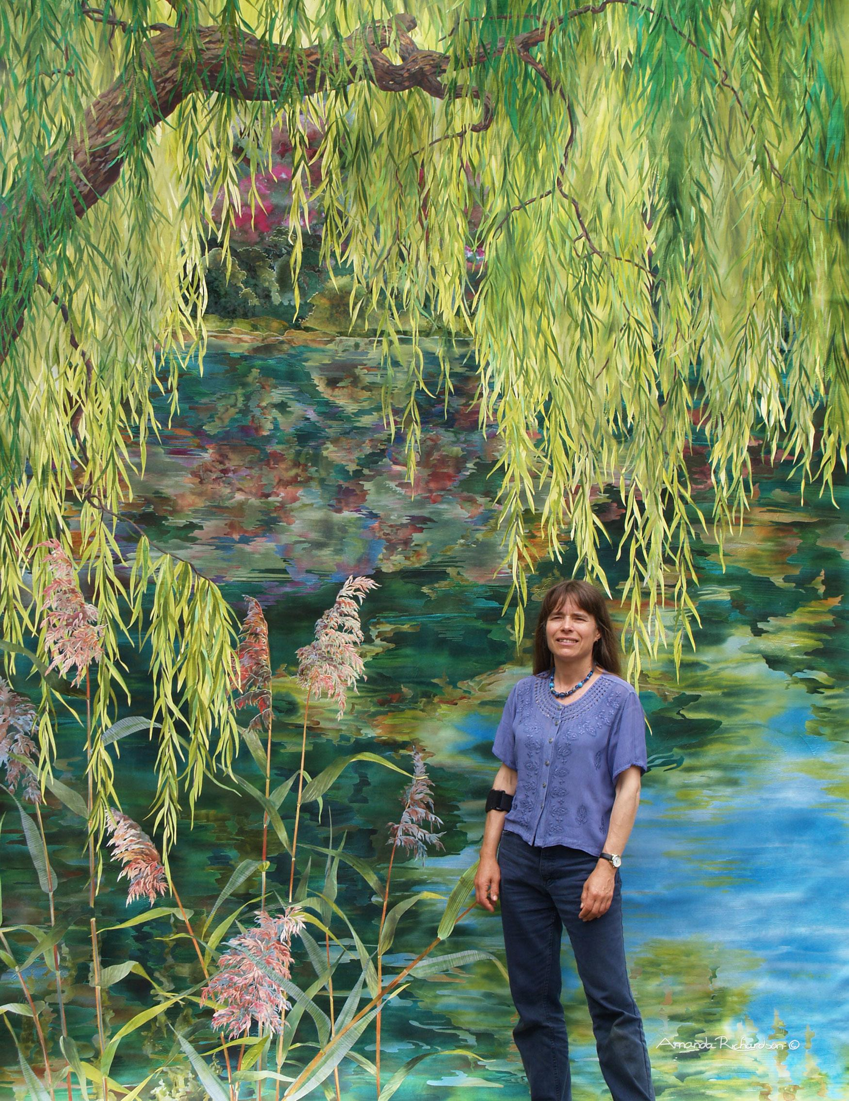 Weeping Willow over Water with artist